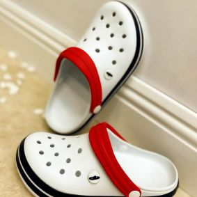 ANTISTATIC MEDICAL / WORK / COSMETIC RUBBER CROCS - WHITE