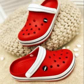 ANTISTATIC MEDICAL / WORK / COSMETIC RUBBER CROCS - RED