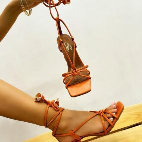Women sandals JOSIA - ORANGE
