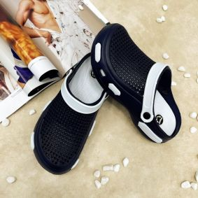 ANTISTATIC MEDICAL/ WORK/COSMETIC RUBBER CROCS - NAVY BLUE