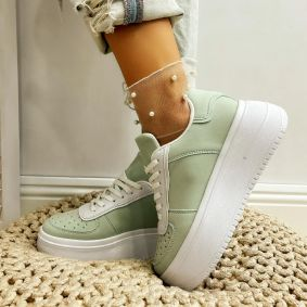 HIGH SOLE SNEAKERS - GREEN