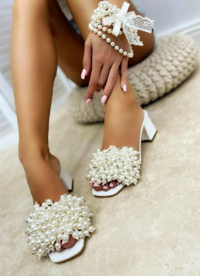 Women Slippers MIRREN - WHITE