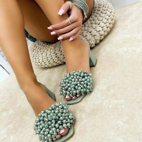 Women Slippers MIRREN - GREEN