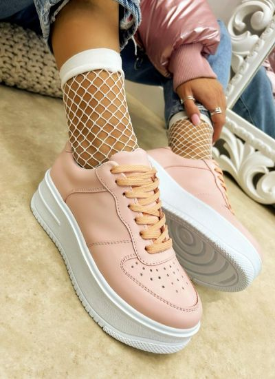 HIGH SOLE SNEAKERS - POWDER ROSE