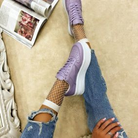 HIGH SOLE SNEAKERS - PURPLE