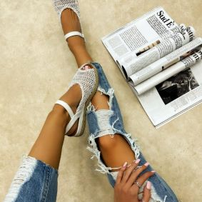 THREAD JUTA SANDALS - WHITE