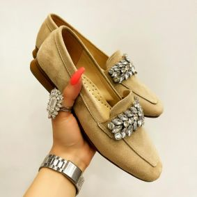 FLATS WITH ORNAMENTS - BEIGE