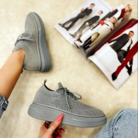 STRETCH SNEAKERS - GRAY