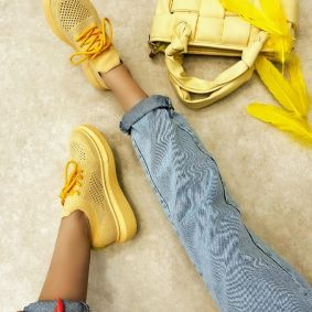 STRETCH SNEAKERS - YELLOW