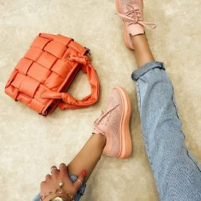 STRETCH SNEAKERS - ROSE