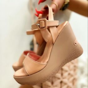 WEDGE SANDALS - ROSE