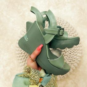 WEDGE SANDALS - GREEN
