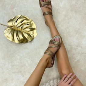 Women Slippers NUALA GOLD