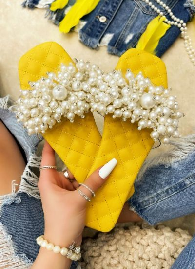 Women Slippers REA - YELLOW