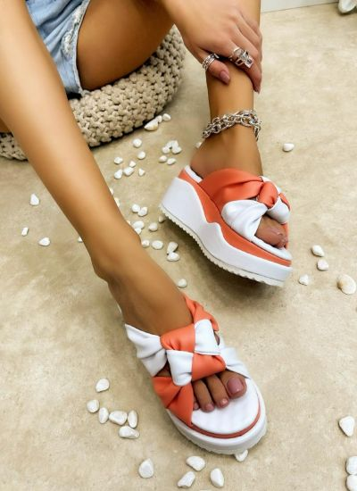 Women Slippers LAIA ORANGE
