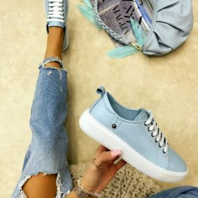 Leather sneakers AFEYA BLUE