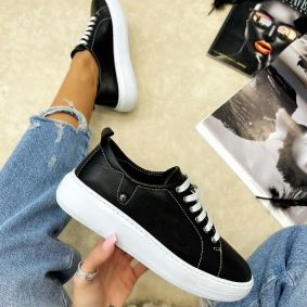 Leather sneakers AFEYA BLACK