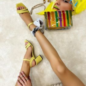 Women sandals REEL YELLOW