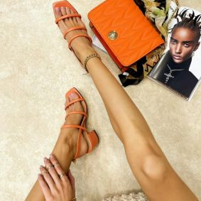 Women sandals EBONI ORANGE