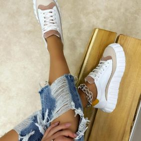 Leather sneakers RAHMA - WHITE