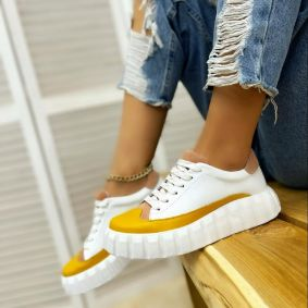 Women sneakers RAHMA - OCHRE