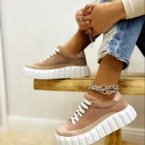Women sneakers RAHMA - POWDER ROSE