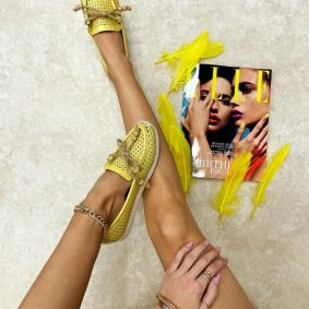 Women flats KAJOL - YELLOW