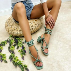 Women sandals WANDA - GREEN