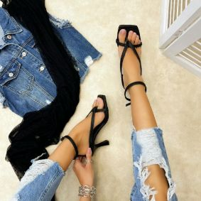 Women sandals TEFTA - BLACK