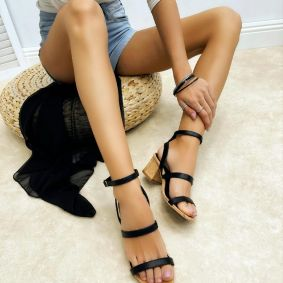 Women sandals REGHAN - BLACK