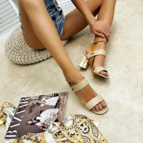 Women sandals DEANNA - BEIGE