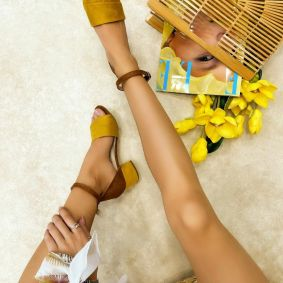 Women sandals MARLOW - OCHRE