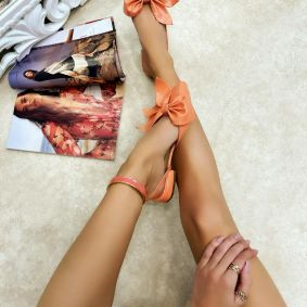 Ballerina flats MYLEA - ORANGE