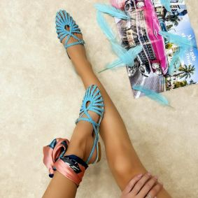 Women sandals DALAJA - BLUE