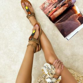 Women sandals ALLISON - CAMEL