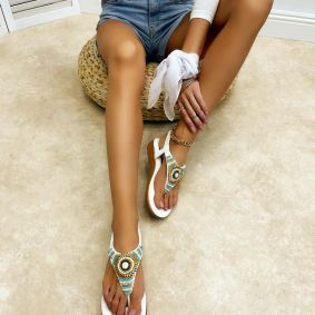 Women sandals GIANNA - WHITE