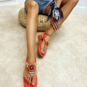 Women sandals GIANNA - CORAL