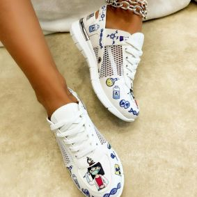 Women sneakers SADIE - WHITE