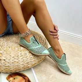 Women flats DELILAH - MINT