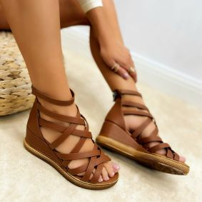 Women sandals KELLY - BROWN