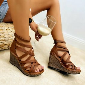 Women sandals KENDRA - BROWN