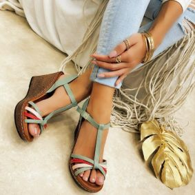 Women sandals KATHLEEN - MINT