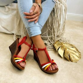 Women sandals KATHLEEN - RED