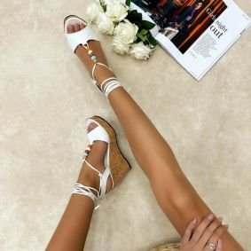 Women sandals KIMBERLY - WHITE