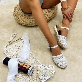Women espadrilles and slip-ons LAILA - WHITE