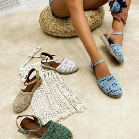 Women espadrilles and slip-ons LAILA - BLUE