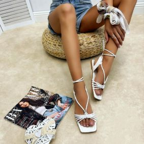 Women sandals LAURA - WHITE