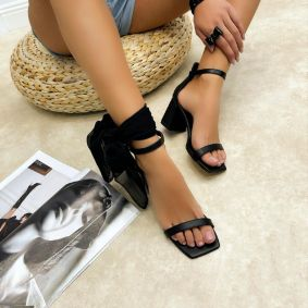 Women sandals LINDA - BLACK