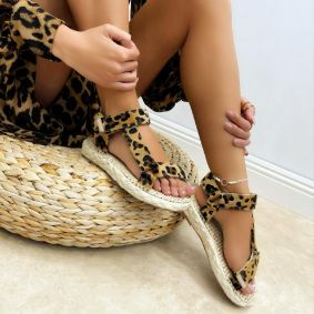 Women sandals MAEVE - LEOPARD
