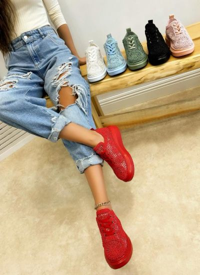 Women sneakers MADELEIN - RED